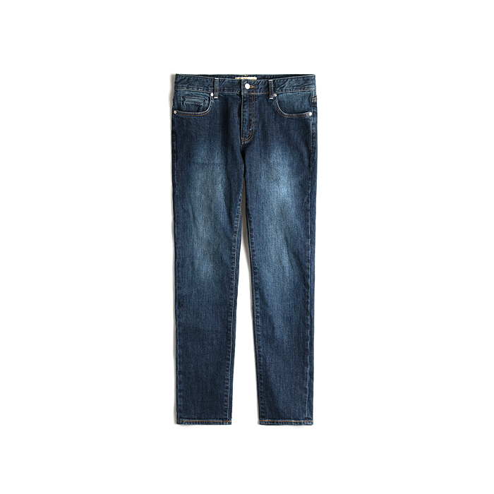 T-1 Kuroki Stretch Washed Jeans - Mid Blue