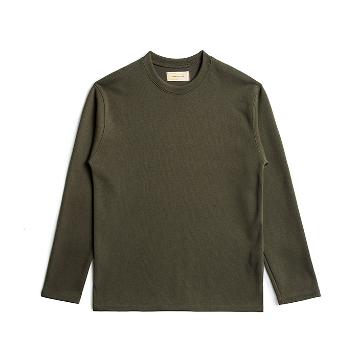 French Rib Cotton Sweater - Khaki