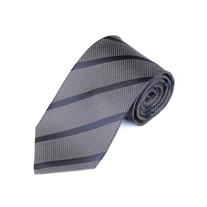 Dot Regimental Tie - Gray