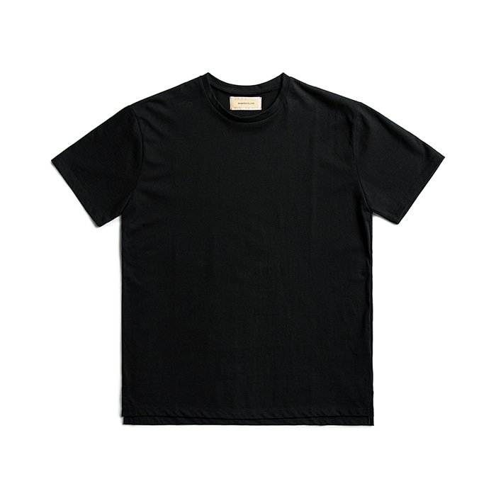 Premium Cotton Crew Neck Short Sleeve - Black
