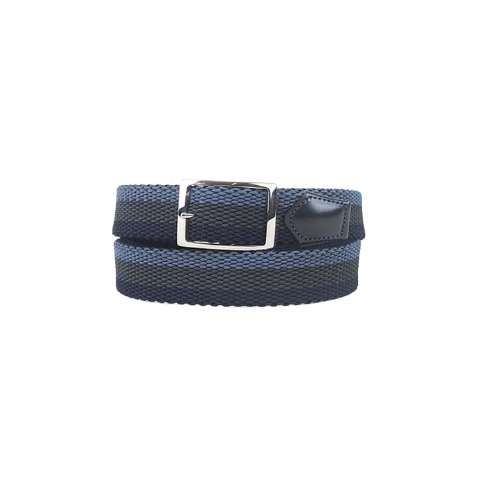 Double face Weaving Belt 12 - Navy