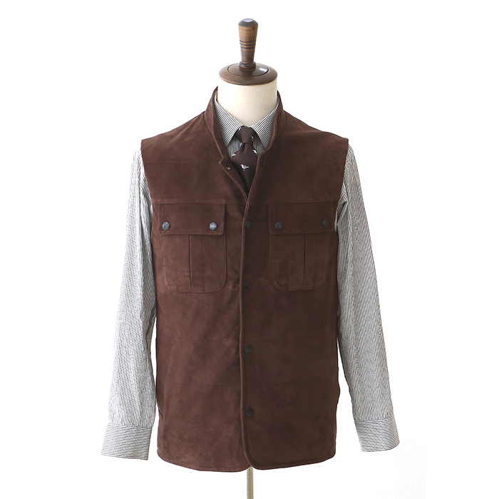 CT C13 Suede Vest - Mocha Brown