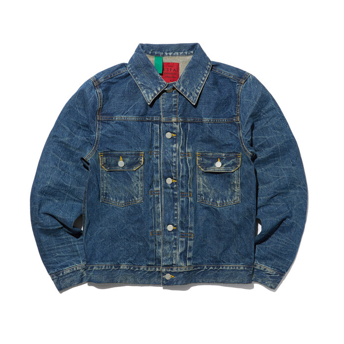 Washed Denim Jacket - Blue