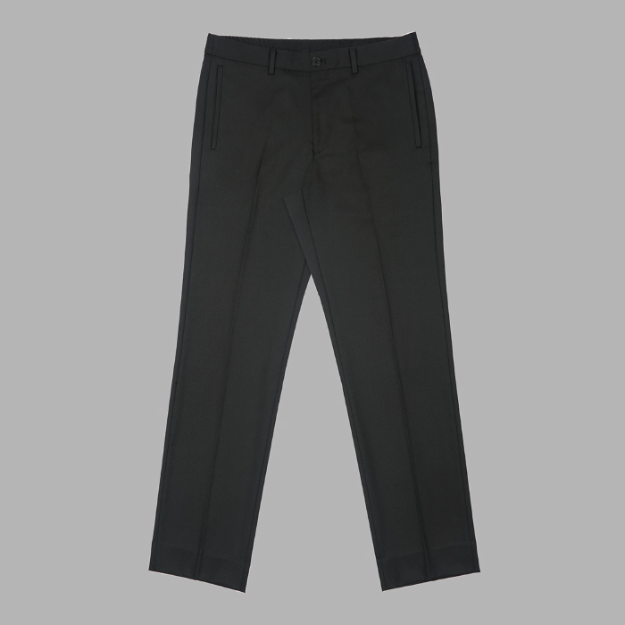 Banding Wool Blend Set Up Trousers - Black