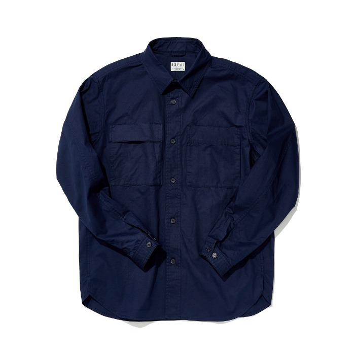Two-Sided Pocket Shirt (Navy)