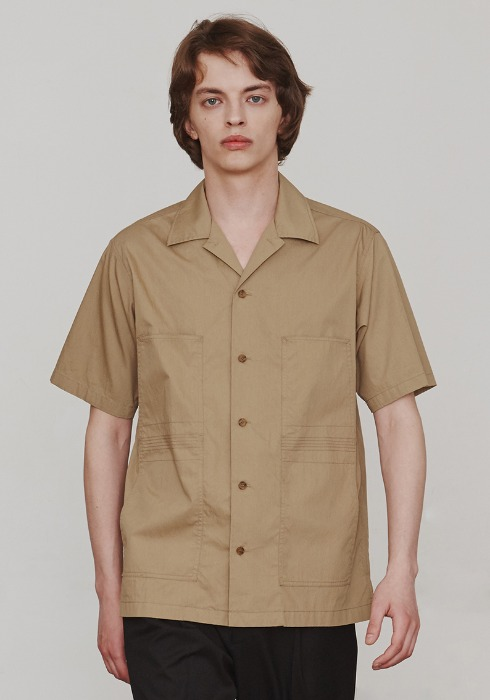 Finger Stitch Shirts (Beige)