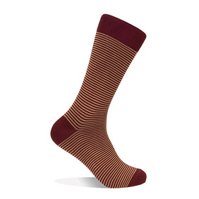 Striped Socks - Wine
