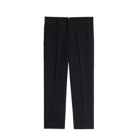 Comfort Fit Stretch Cropped Pants - Black