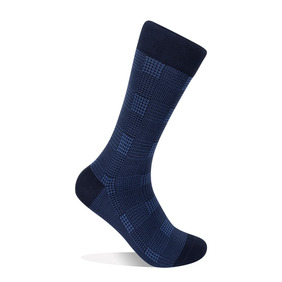 Glen Plaid Socks - Blue
