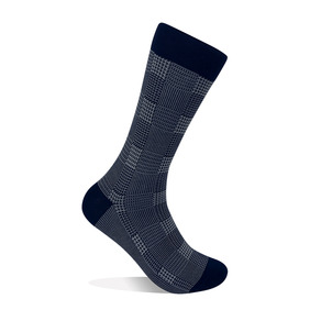 Glen Plaid Socks - Gray