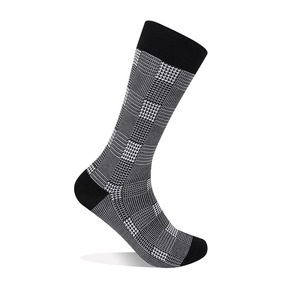 Glen Plaid Socks - White