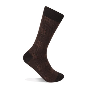 Glen Plaid Socks - Brown