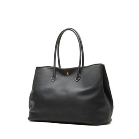 Cow Leather Tote Bag - Black