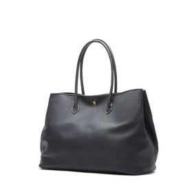 Cow Leather Tote Bag - Navy