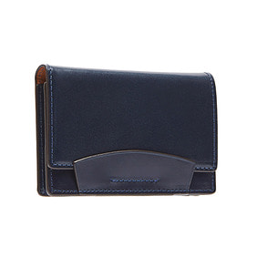 Bridle Leather Card case - Navy