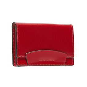 Bridle Leather Card case - Red