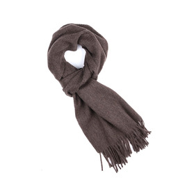 100% Cashmere Muffler - Brown