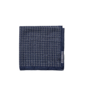 Squares02 - Navy Houndtooth Pattern