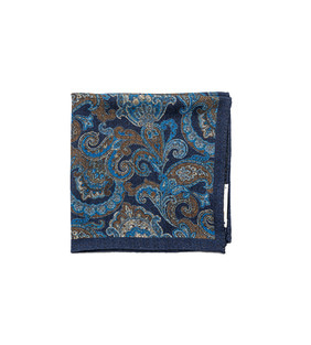 Squares04 - Navy Paisley & Flower