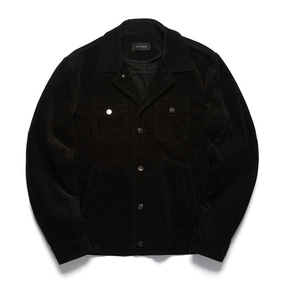 Corduroy Trucker Jacket - Black