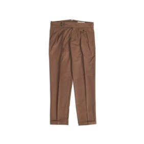 18 F/W Two Tuck Trousers - Brown