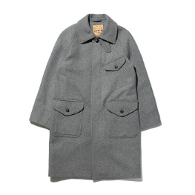Raglan Perm Coat - Gray