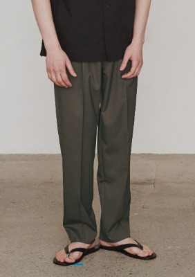 Invisible Drawstring Trousers (Khaki)