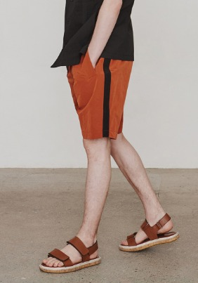 Nylonical Shorts (Orange&Black)