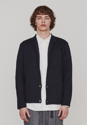 KNIT JACKET (NAVY)